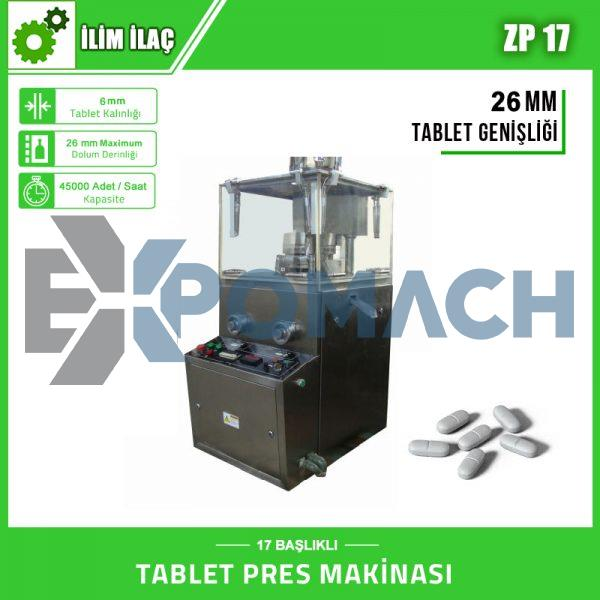 ZP-17 – TABLET PRES MAKİNASI – 26MM